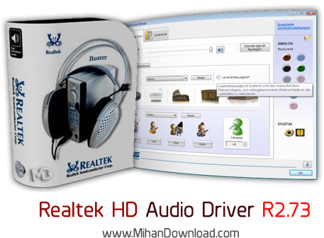 Realtek HD Audio Driver R2.73 دانلود Realtek HD Audio Driver R2 73 درایور کارت صدا