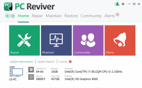 Reviver e1425748352997 دانلود نرم افزار رفع خطاهای کامپیوتر PC Reviver 2.11.1.4