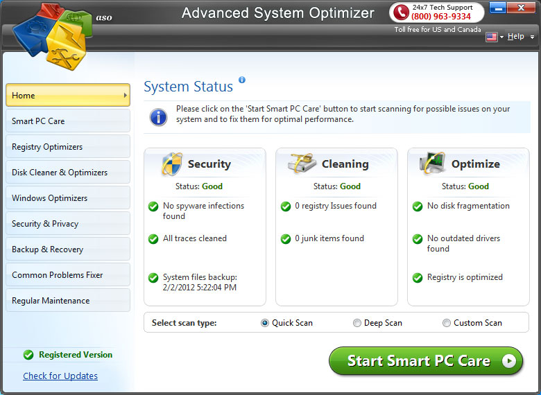 ScreenShots.Advanced.System.Optimizer5 نرم افزار بهینه ساز ویندوز Advanced System Optimizer 3 5 1000 15822