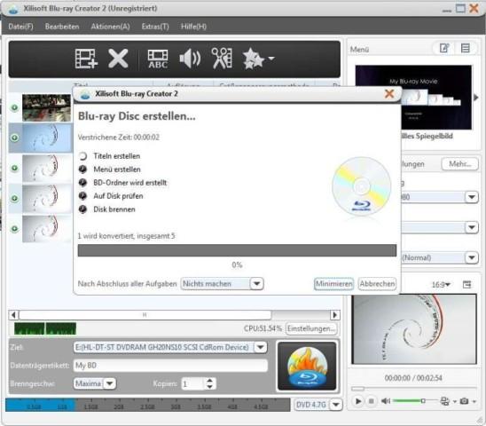 Screenshot 2 Xilisoft Blu ray Creator 745x652 a550bca49a81daa3 دانلود Xilisoft Blu ray Creator 2 0 4 نرم افزار ساخت دیسک های بلوری