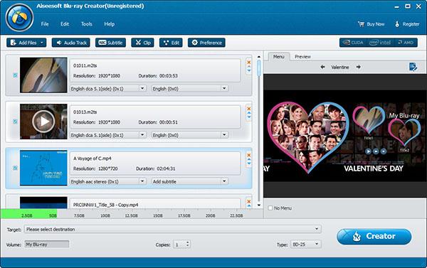 Screenshot.Aiseesoft.Blu ray.Creator 3 نرم افزار ساخت دیسکهای بلوری Aiseesoft Blu ray Creator 1 0 12