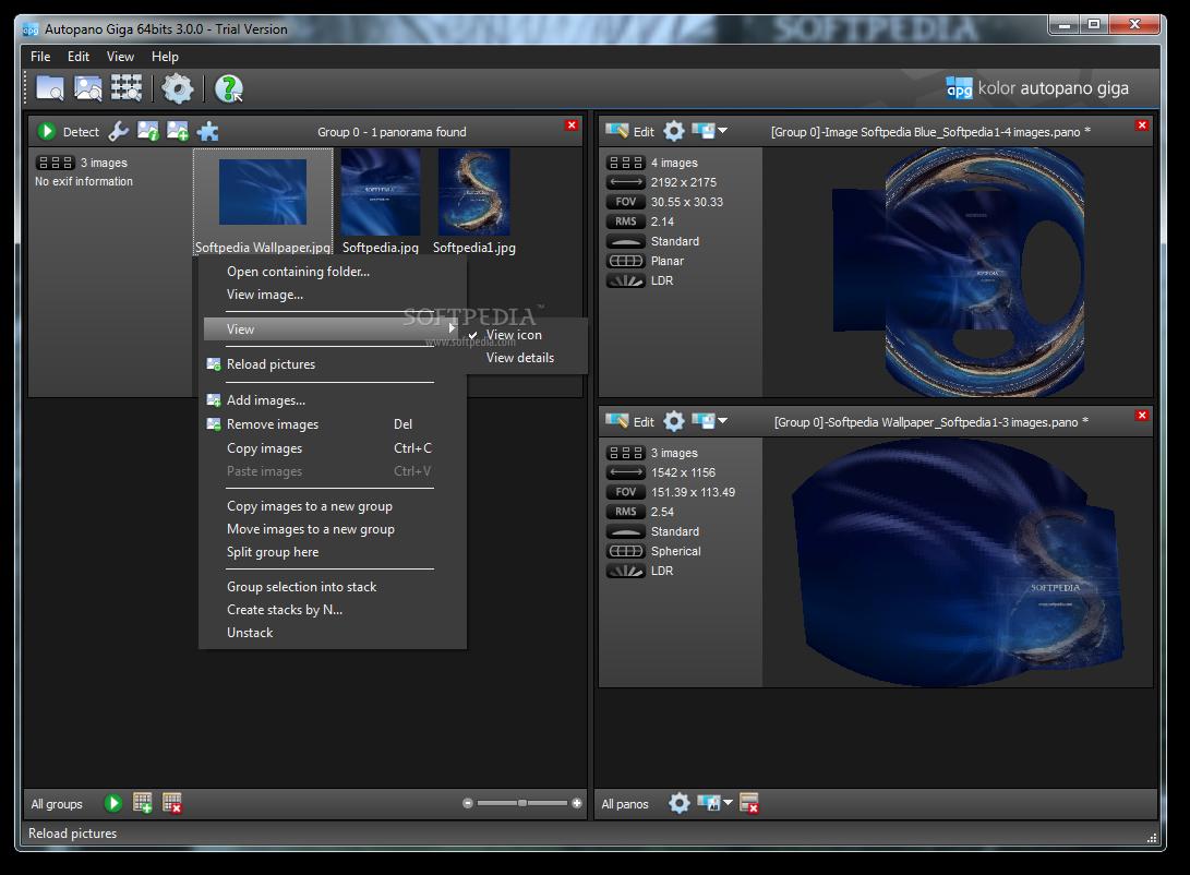 Screenshot.Kolor .Autopano.Giga  نرم افزار ساخت تصاویر پانوراما Kolor Autopano Giga 3 5 0