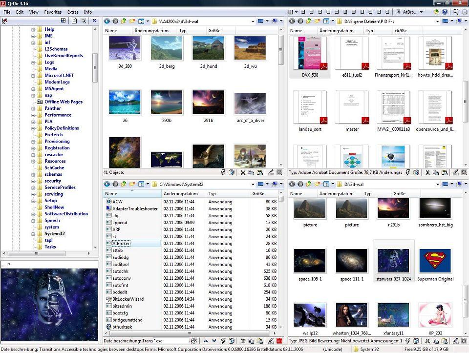 Screenshot.Q Dir 4 دانلود Q Dir 5.99.9 نرم افزار مدیریت فایل ها