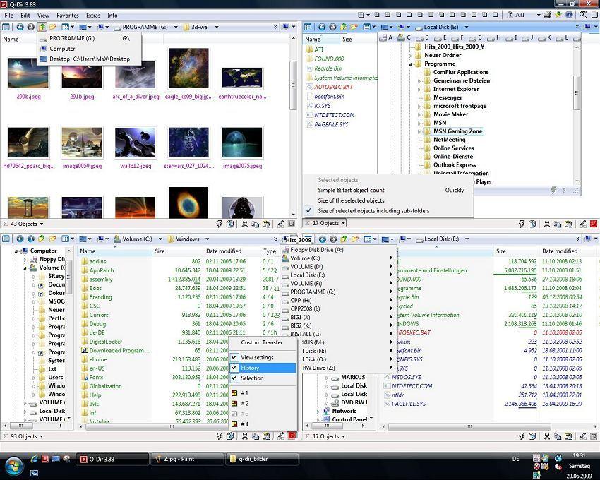Screenshot.Q Dir 5 دانلود Q Dir 5.99.9 نرم افزار مدیریت فایل ها