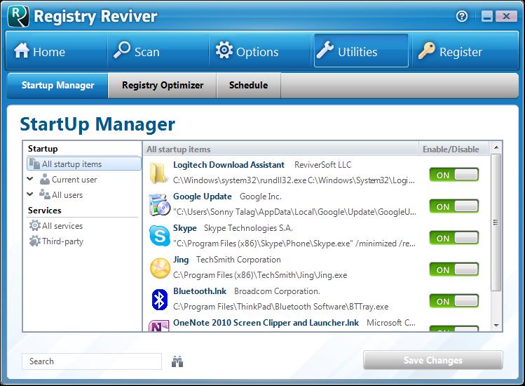 Screenshot.Registry.Reviver 2 نرم افزار پاکسازی و ترمیم رجیستری Registry Reviver 3 0 1 152