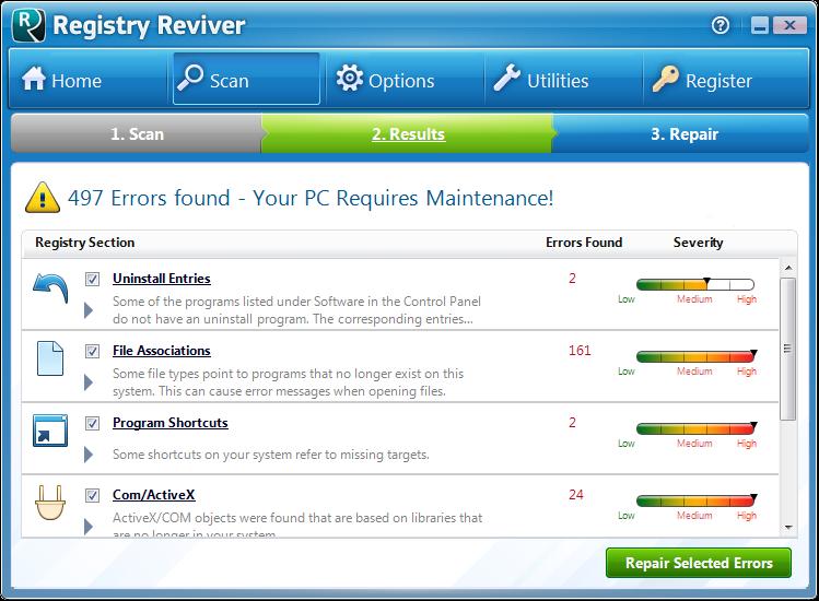 Screenshot.Registry.Reviver 3 نرم افزار پاکسازی و ترمیم رجیستری Registry Reviver 3 0 1 152