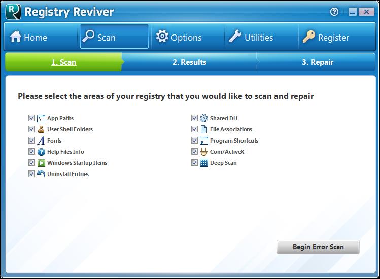 Screenshot.Registry.Reviver 5 نرم افزار پاکسازی و ترمیم رجیستری Registry Reviver 3 0 1 152