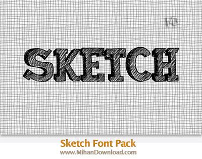 Sketch Font Pack 1 o دانلود فونت جدید و زیبای Sketch Font