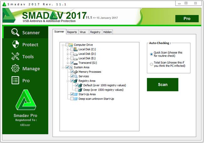 Smadav دانلود نرم افزار حذف ویروس های فلش