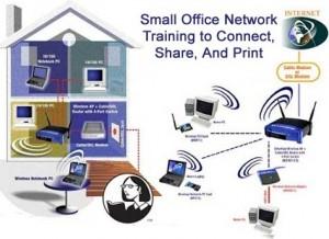 Small Office Network Training 300x218 دانلود فیلم آموزش ساخت شبکه کوچک خانگی