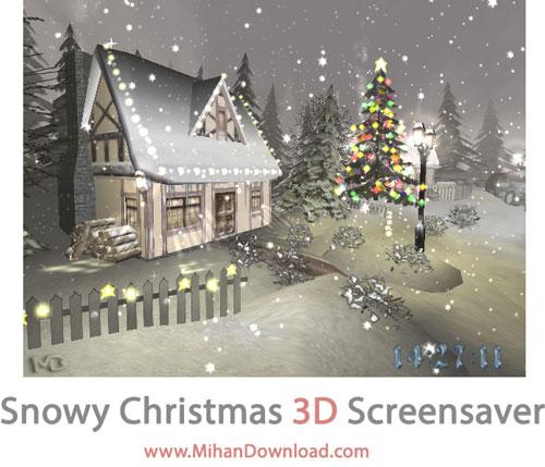 Snowy Christmas 3D screensaver دانلود اسکرین سیور زمستان Snowy Christmas 3D screensaver