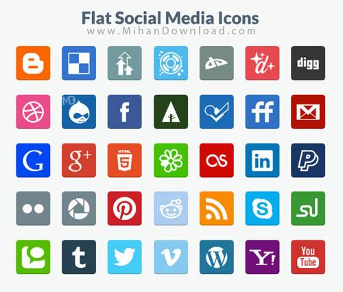 Social Media Icons دانلود Social Media Icons آيکون رسانه های اجتماعي