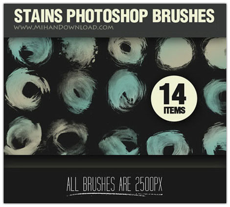 Stains Photoshop Brushes دانلود Stains Photoshop Brushes براش لکه