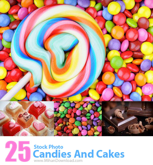 Stock Photo Candies And Cakes دانلود عکس با کيفيت آب نبات و کیک Stock Photos Candies And Cakes
