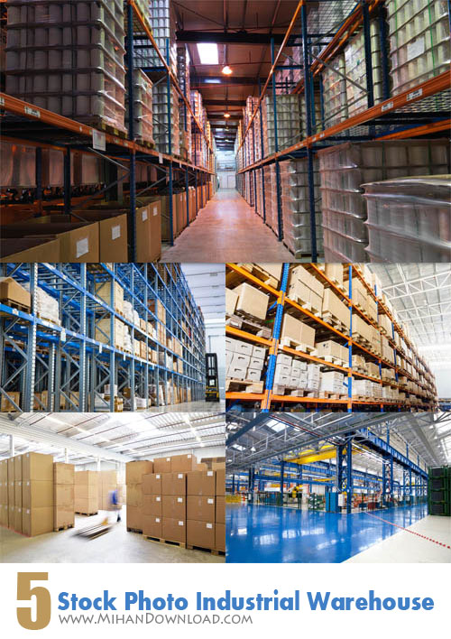 Stock Photo Industrial Warehouses دانلود Stock Photo Industrial Warehouses عکس انبارهای صنعتی