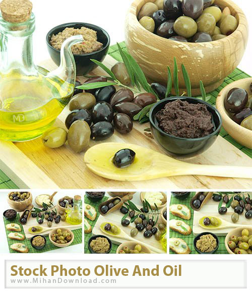Stock Photo Olive And Oil دانلود عکس با کيفيت زیتون و روغن Stock Photos Olive And Oil