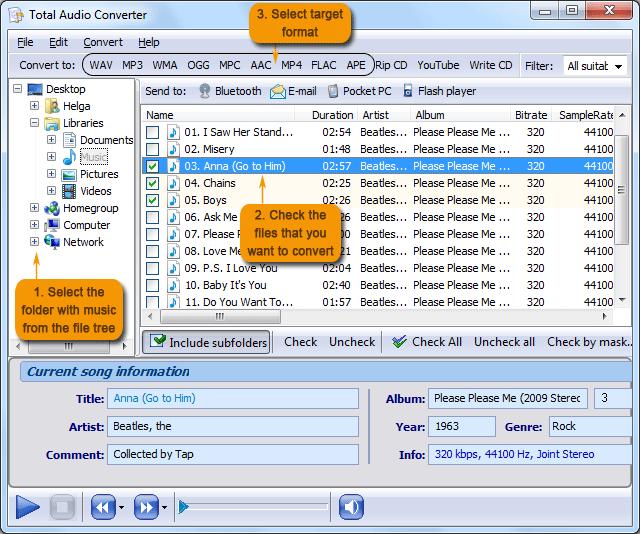 TACmain نرم افزار تبدیل فرمت های صوتی CoolUtils Total Audio Converter 5 2 0 84