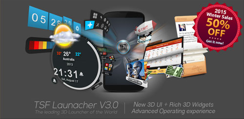 TSF Shell دانلود نرم فزار لانچر منحصر به فرد TSF Shell 3D Launcher 3.5.2 اندروید