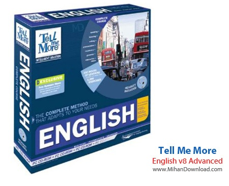 Tell Me More English دانلود نرم افزار آموزش زبان انگلیسی Tell Me More English v8 Level 3 Advanced