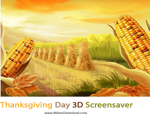 Thanksgiving Day 3D Screensaver دانلود اسکرین سیور روز شکرگزاری Thanksgiving Day 3D Screensaver v1 0