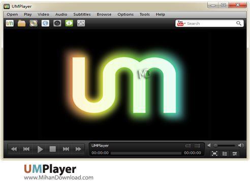 UMPlayer نرم افزار پخش فایل های صوتی و تصویری UMPlayer v0 98