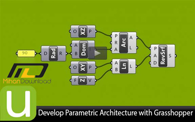 Udemy دانلود فیلم آموزش نقشه کشی با نرم افزار  Develop Parametric Architecture with Grasshopper
