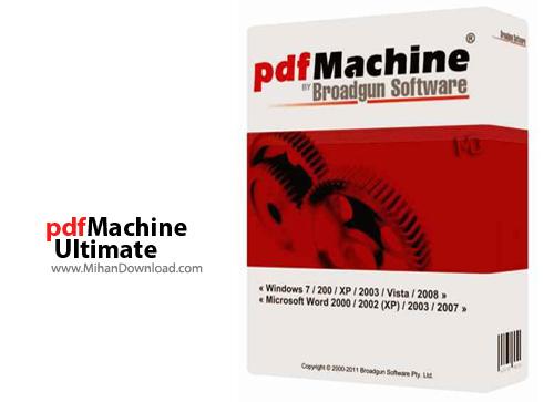 Ultimate نرم افزار ویرایش و ساخت فایلهای پی دی اف pdfMachine Ultimate 14 66