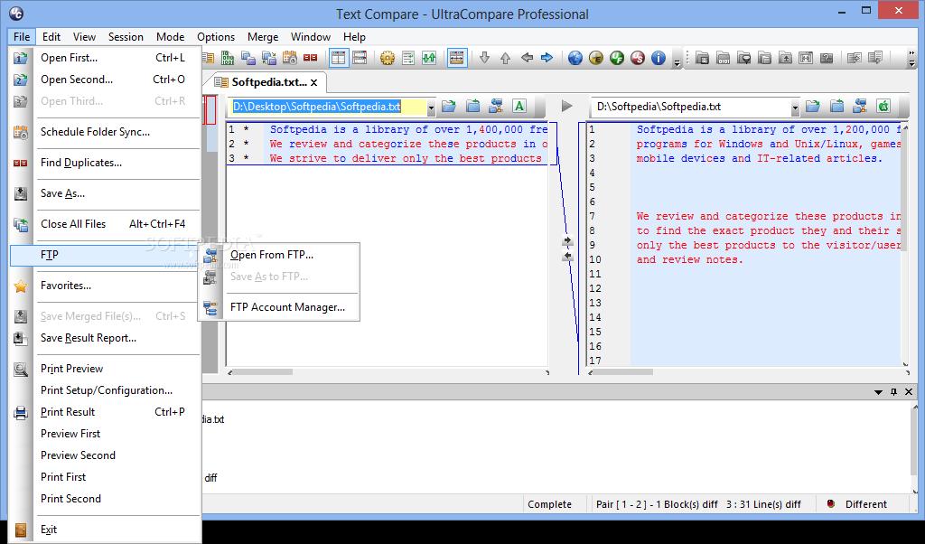 UltraCompare Professional 2 نرم افزار مقایسه فایل ها با یکدیگر IDM UltraCompare Pro 8 50 0 1028