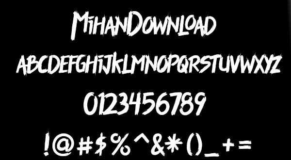 Untitled 122 دانلود رایگان فونت هیجان انگیز Thriller Font
