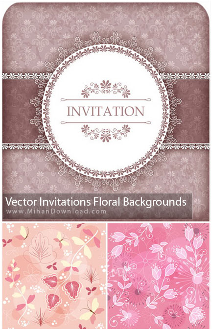 Vector Floral Backgrounds دانلود وکتور پست زمینه گل Vectors Floral Background