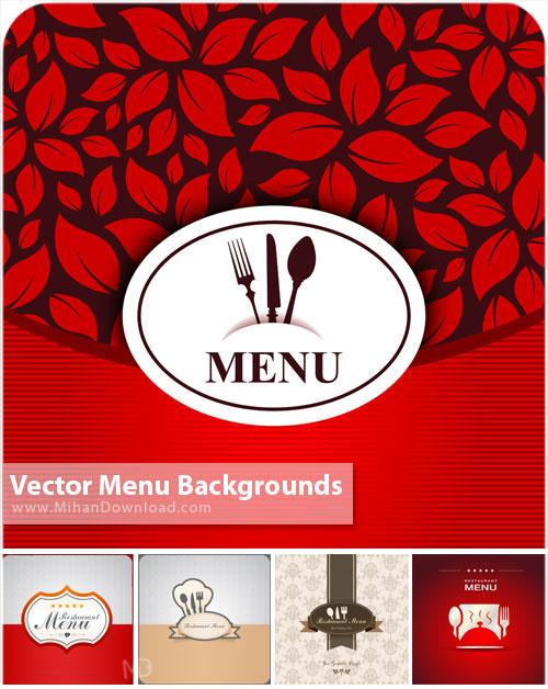 Vector Menu Backgrounds دانلود وکتور پست زمینه منو Vectors Menu Backgrounds