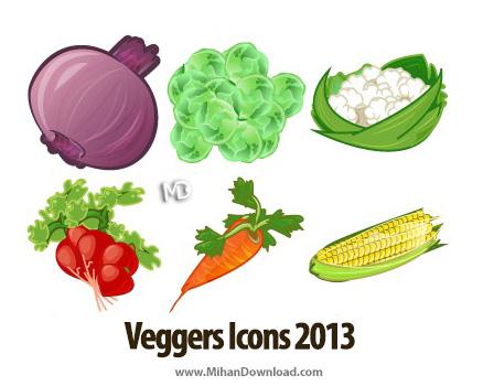 Veggers Icons md iocn دانلود مجموعه آیکون های سبزیجات Veggers Icons
