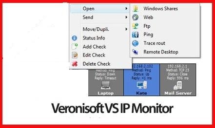 Veronisoft VS IP Monitor دانلود نرم افزار نظارت ای پی های شبکه Veronisoft VS IP Monitor