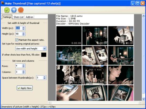 Video e1420110634135 دانلود نرم افزار گرفتن عکس از صفحه ی نمایش Video Snapshots Genius 3.0.1