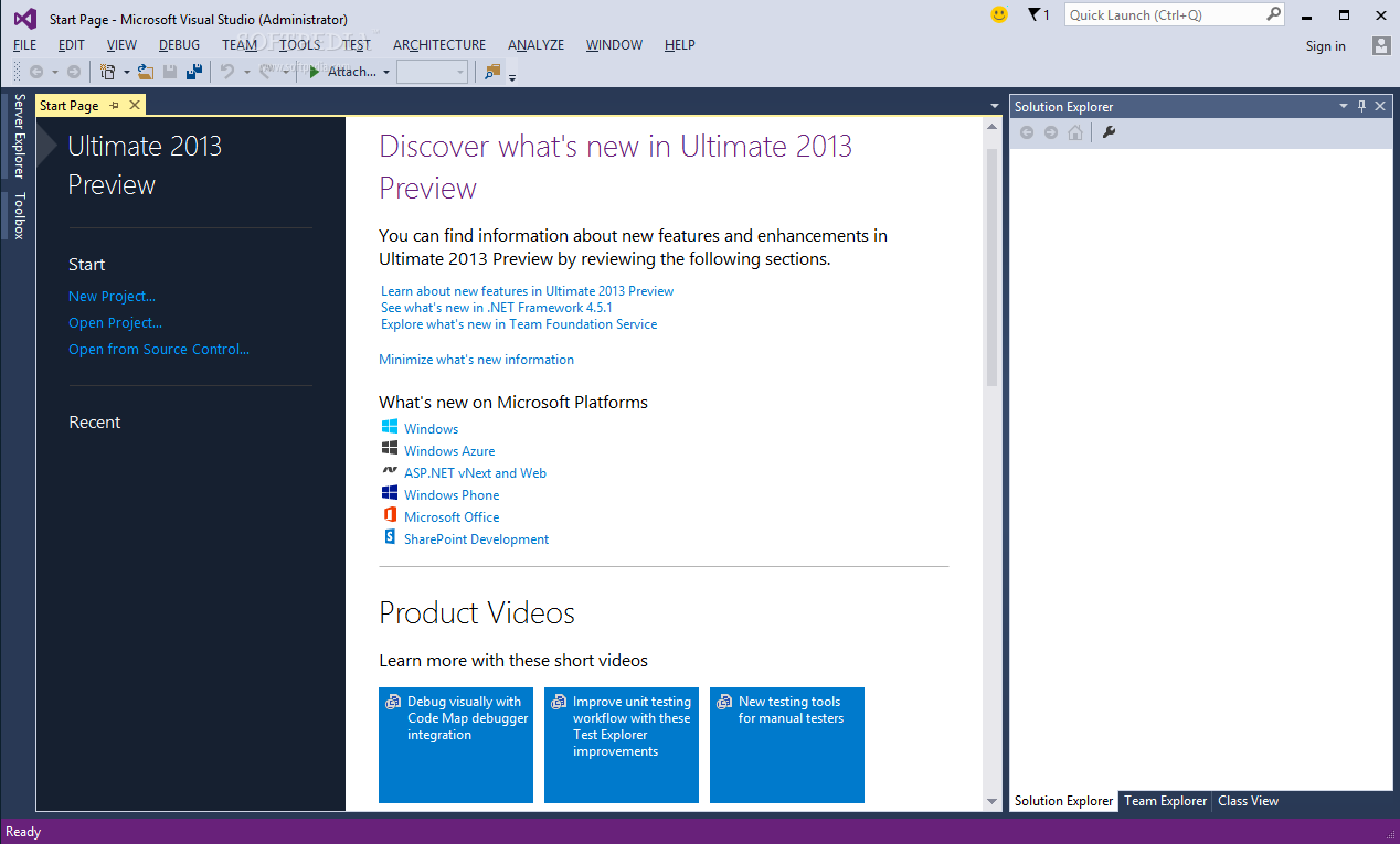 Visual Studio Ultimate 34 دانلود Microsoft Visual Studio Ultimate 2013 نرم افزار ویژوال استودیو