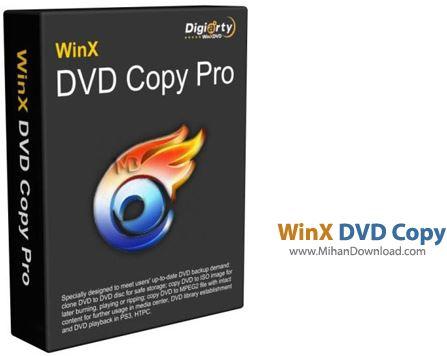 WinX DVD Copy نرم افزار کپی دی وی دی WinX DVD Copy Pro 3 6 2