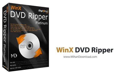 WinX DVD Ripper 1 دانلود WinX DVD Ripper Platinum نرم افزار مبدل DVD