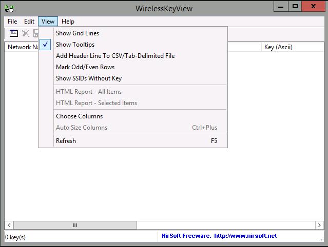 WirelessKeyView دانلود WirelessKeyView 2.0.5 نرم افزار بازیابی پسورد وایرلس