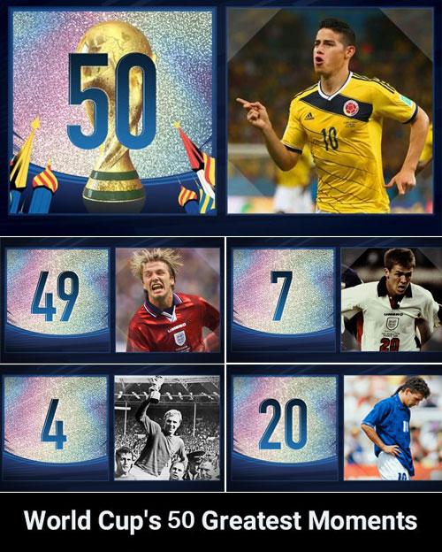 World Cups 50 <a href=