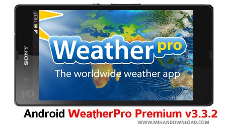 abohava دانلود نرم افزار Weather Pro برای آندروید