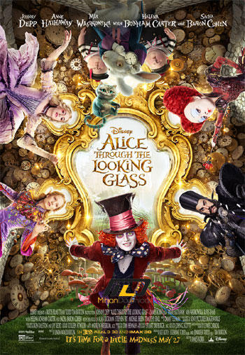 alice through the looking20 دانلود انیمیشن سینمایی Alice Through the Looking Glass 2016
