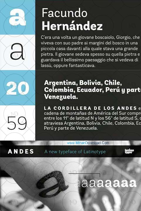 andes دانلود فونت طراحی Andes Font Family