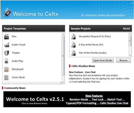 celtx 30168 30168 دانلود نرم افزار تولید پروژه سینمایی Celtx 2.9.7