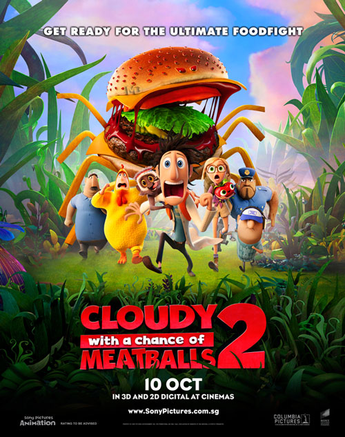 cloudy2 poster دانلود انیمیشن Cloudy with a Chance of Meatballs 2
