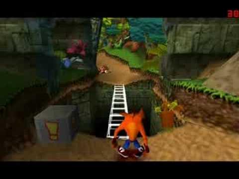 crash level1 screenshot دانلود بازی های PS1 برای کامپیوتر : Crash Bandicoot