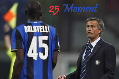 cristiano ronaldo 487 jose mourinho mad making a strange and funny face when looking at mario balotelli in inter milan 25 صحنه خنده دار از ژوزه مورینیو