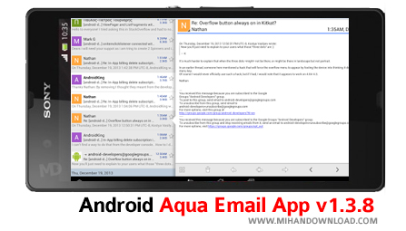 email دانلود نرم افزار Email App برای آندروید