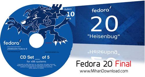 fedora 20 دانلود لینوکس فدورا Fedora 20 Final x86 x64