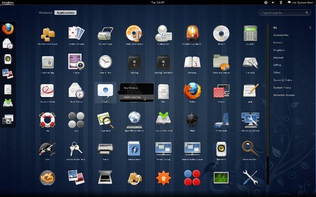 fedora15 gnome3 activities applications دانلود لینوکس فدورا Fedora 20 Final x86 x64