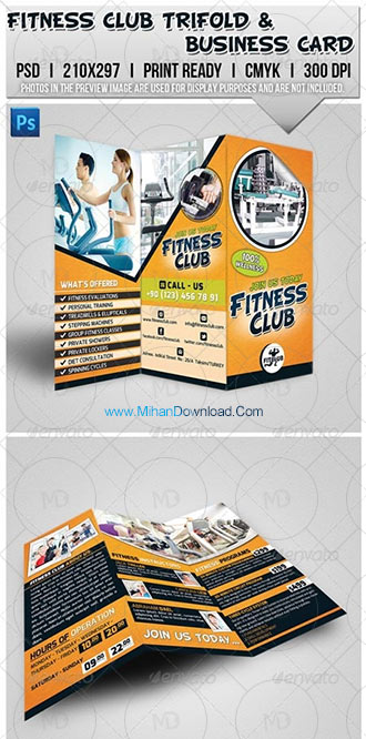 fitness1 دانلود فایل لایه باز باشگاه و فیتنس